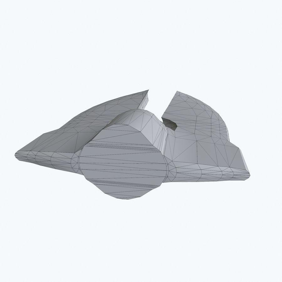 Statek kosmiczny royalty-free 3d model - Preview no. 7