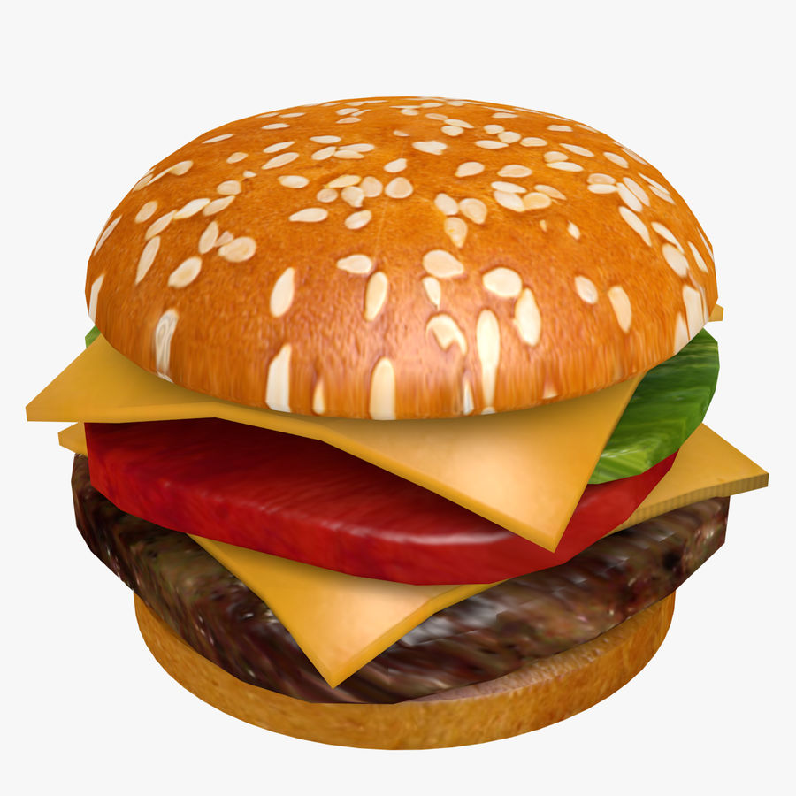 Сочный гамбургер royalty-free 3d model - Preview no. 1