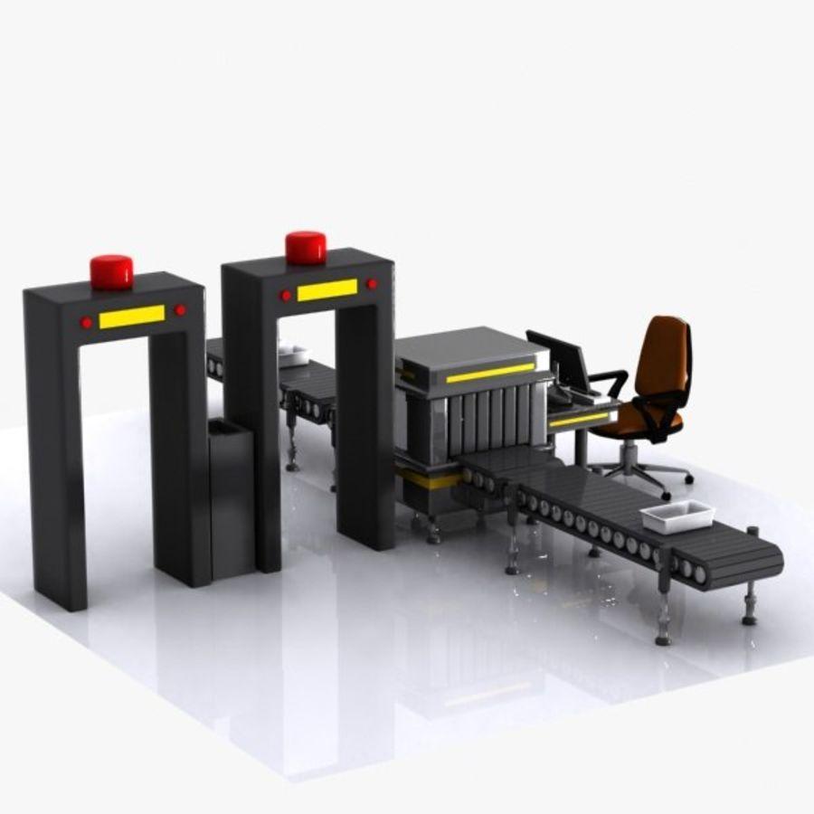 Machine de sécurité de dessin animé royalty-free 3d model - Preview no. 8