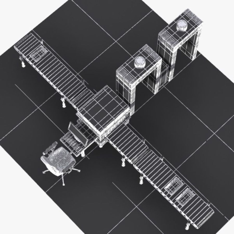 Machine de sécurité de dessin animé royalty-free 3d model - Preview no. 14