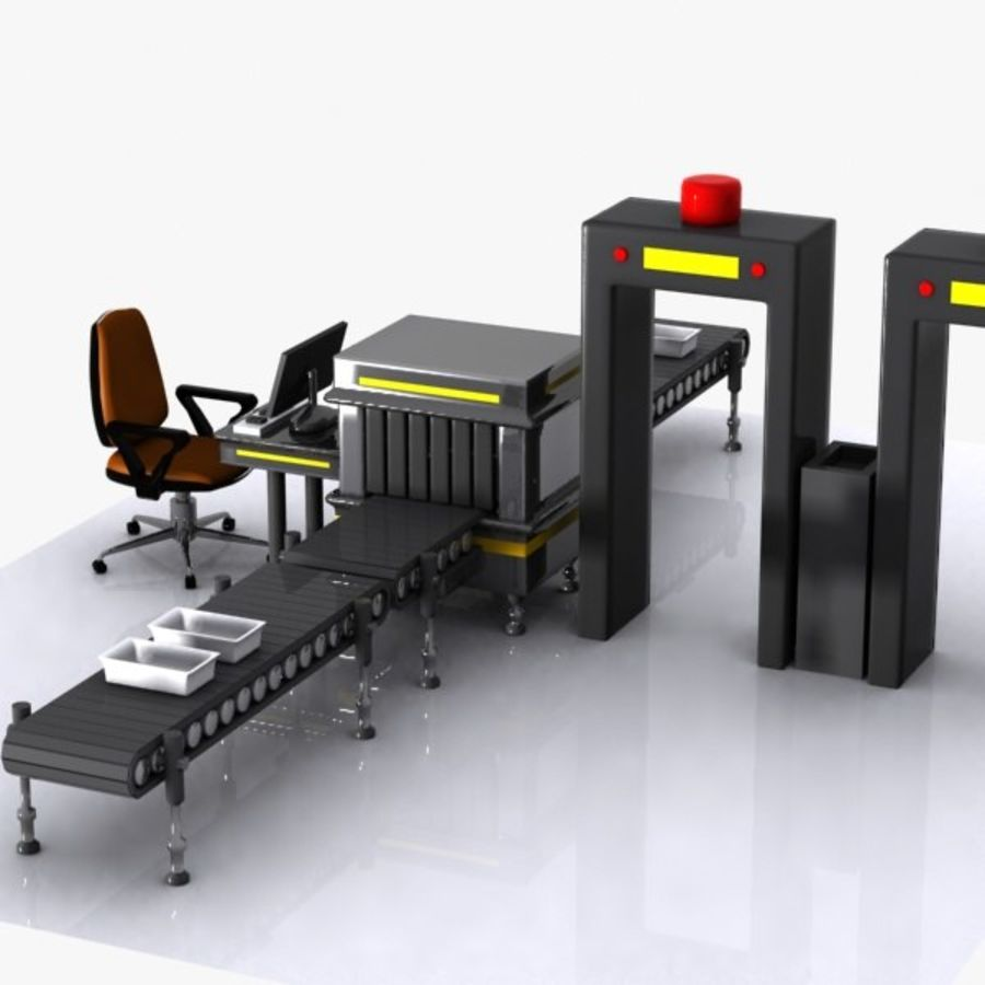 Machine de sécurité de dessin animé royalty-free 3d model - Preview no. 4