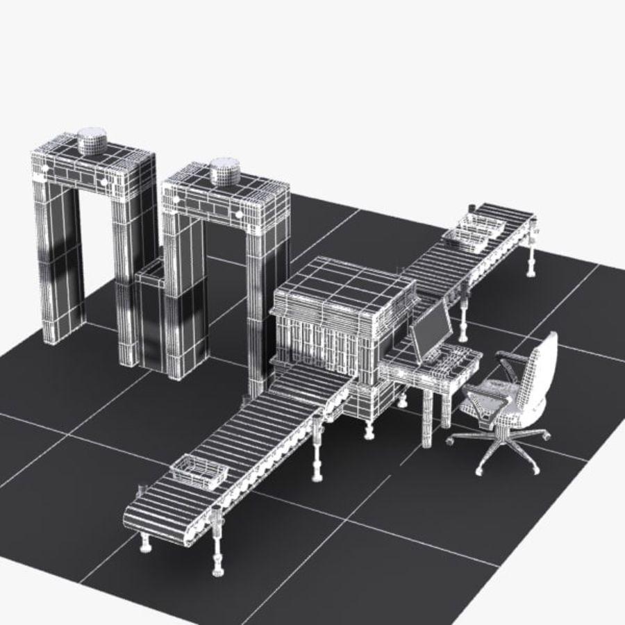 Machine de sécurité de dessin animé royalty-free 3d model - Preview no. 10