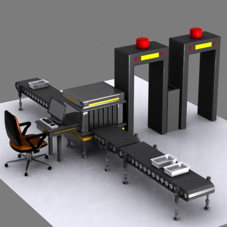Machine de sécurité de dessin animé royalty-free 3d model - Preview no. 2