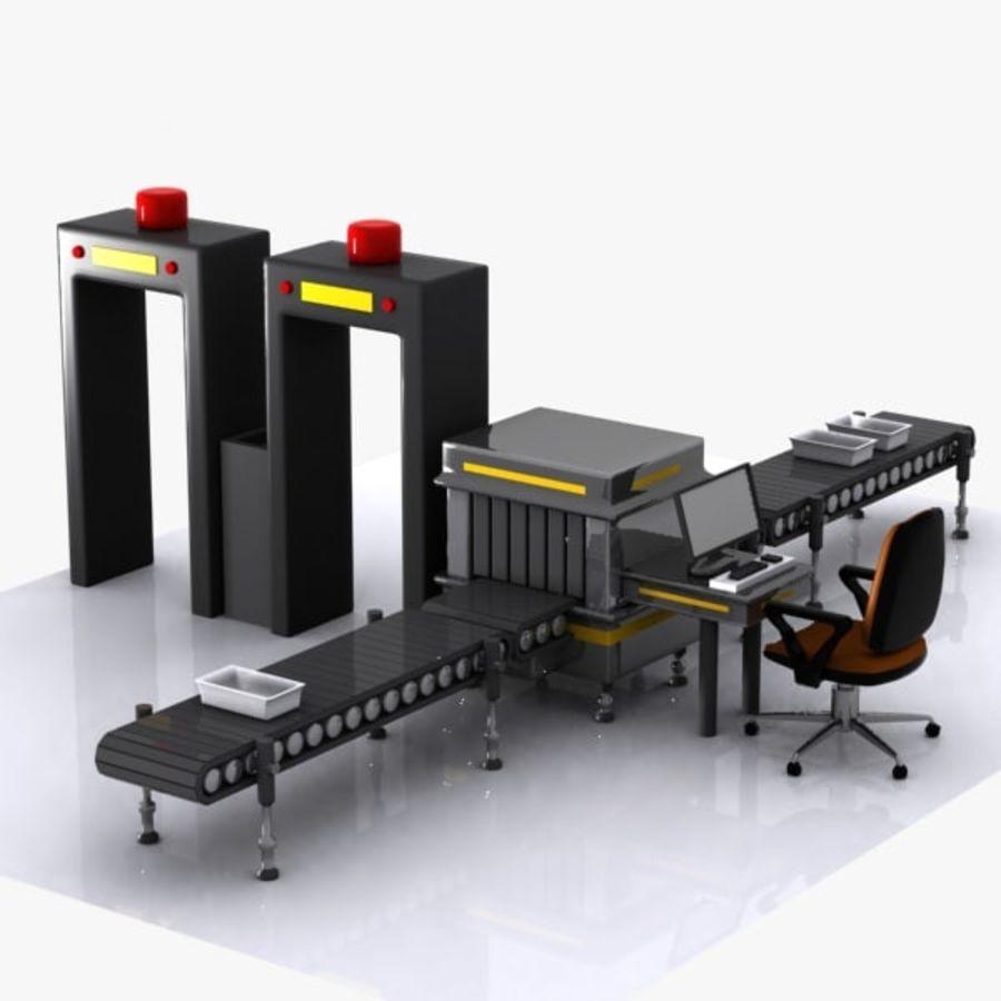 Machine de sécurité de dessin animé royalty-free 3d model - Preview no. 7