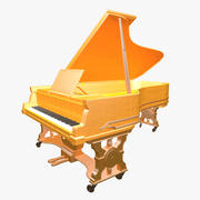 Old Grand Piano 3d model
