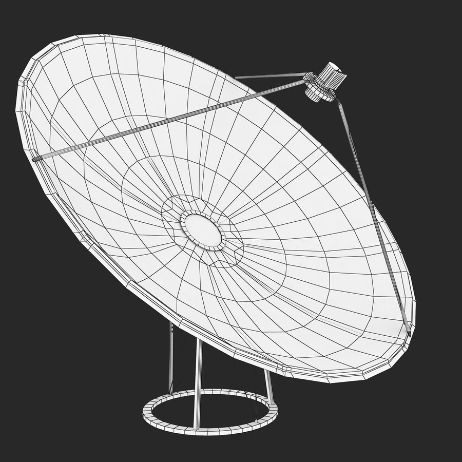 Antena satelital V4 royalty-free modelo 3d - Preview no. 9