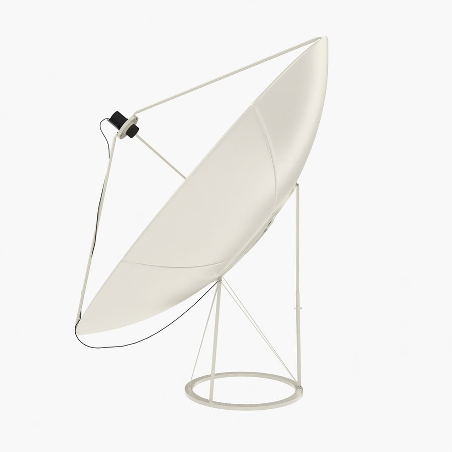 Antena satelital V4 royalty-free modelo 3d - Preview no. 2