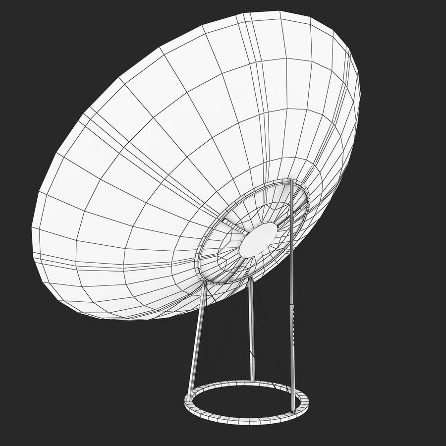 Antena satelital V4 royalty-free modelo 3d - Preview no. 10