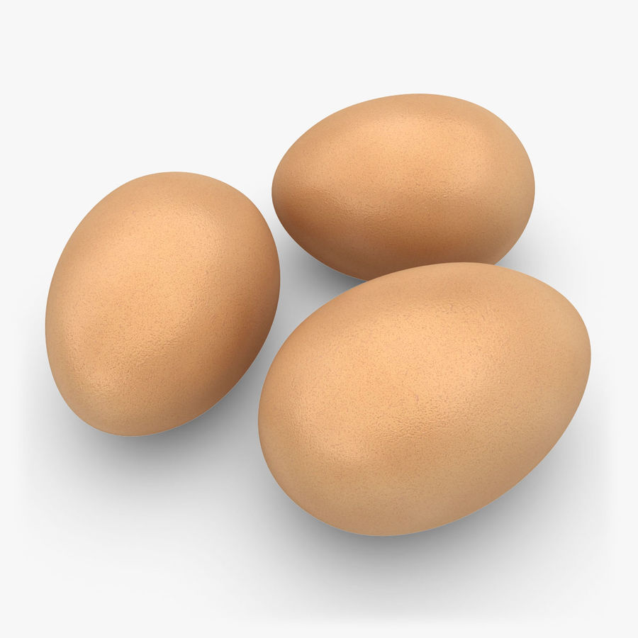 Eggs (Brown) royalty-free 3d model - Preview no. 1