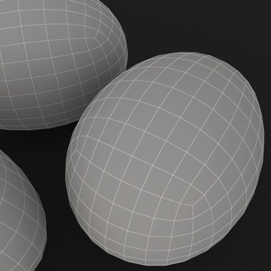 Eggs (Brown) royalty-free 3d model - Preview no. 15