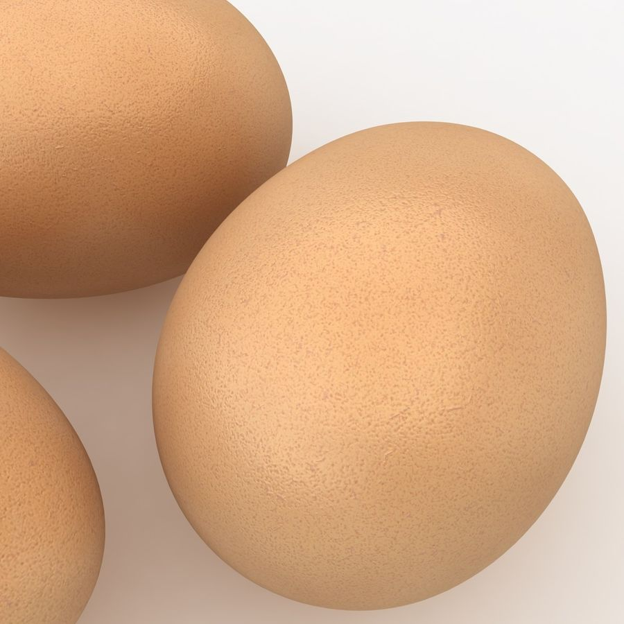 Eggs (Brown) royalty-free 3d model - Preview no. 6
