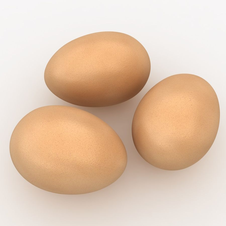 Eggs (Brown) royalty-free 3d model - Preview no. 7