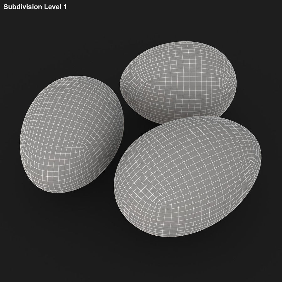 Eggs (Brown) royalty-free 3d model - Preview no. 18