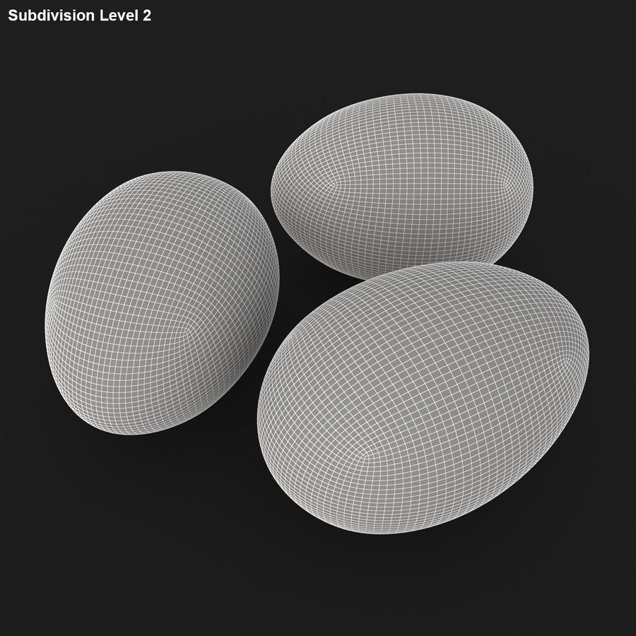 Eggs (Brown) royalty-free 3d model - Preview no. 19
