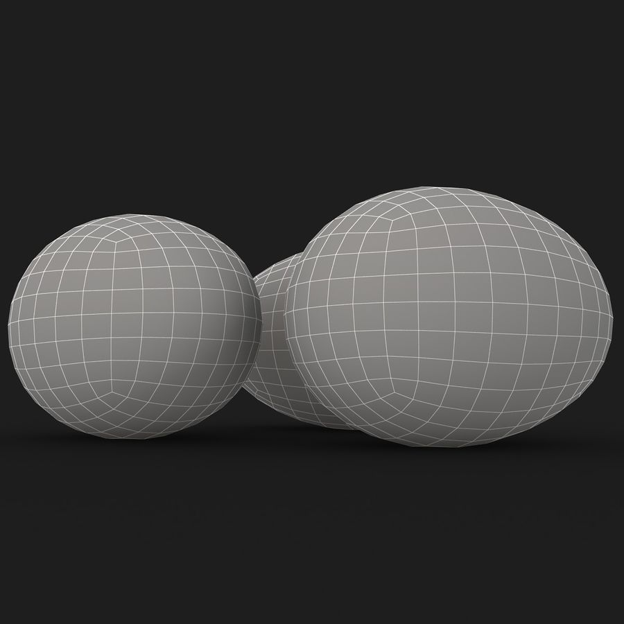 Eggs (Brown) royalty-free 3d model - Preview no. 13