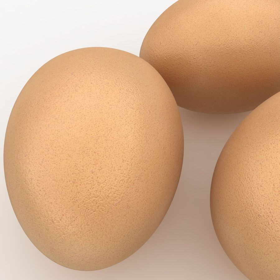 Eggs (Brown) royalty-free 3d model - Preview no. 4
