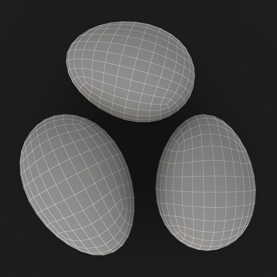 Eggs (Brown) royalty-free 3d model - Preview no. 14