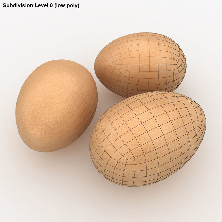 Eggs (Brown) royalty-free 3d model - Preview no. 16