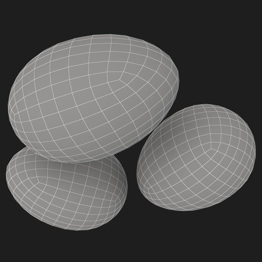 Eggs (Brown) royalty-free 3d model - Preview no. 11