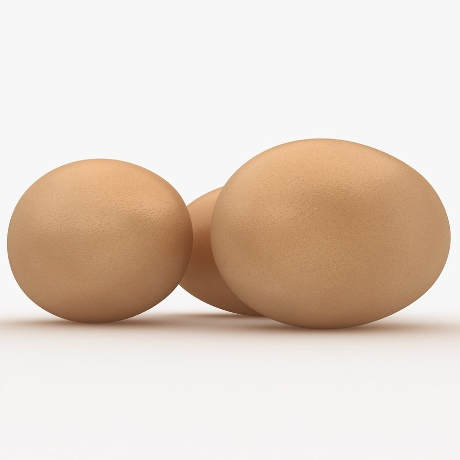 Eggs (Brown) royalty-free 3d model - Preview no. 5