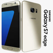 Samsung Galaxy S7 Edge Gold Platinum 3d model