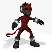 Devil Cartoon Rigged - Low Poly Toon Demon Character 3d model