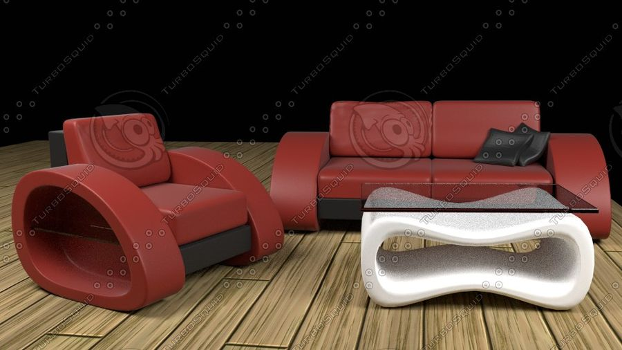 Modern Sofa (couch) royalty-free 3d model - Preview no. 4