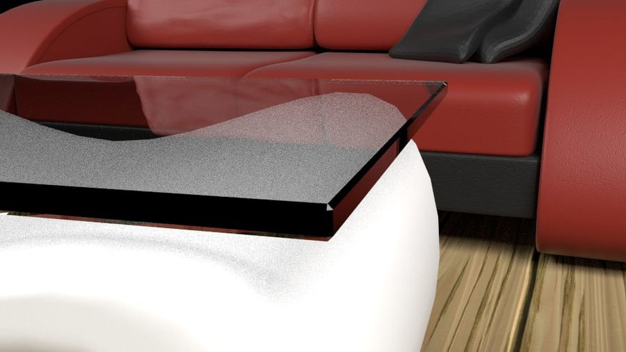 Modern Sofa (couch) royalty-free 3d model - Preview no. 2