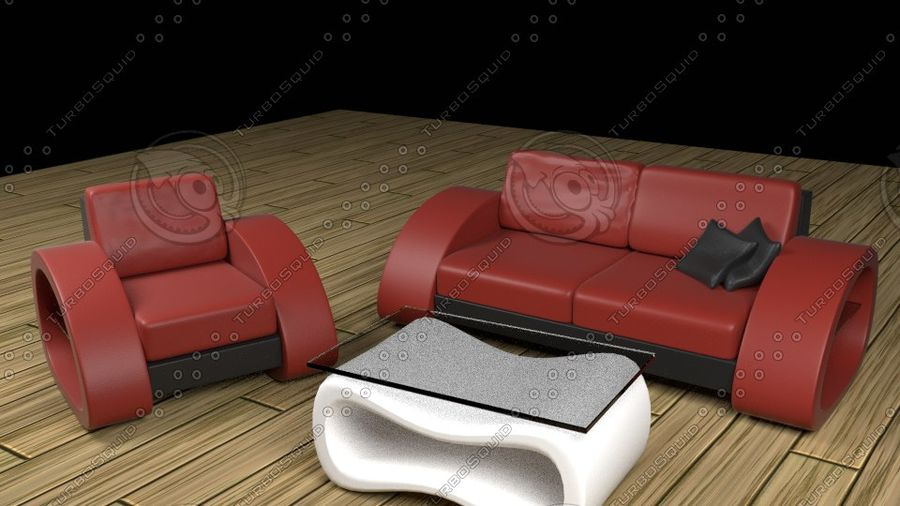 Modern Sofa (couch) royalty-free 3d model - Preview no. 1