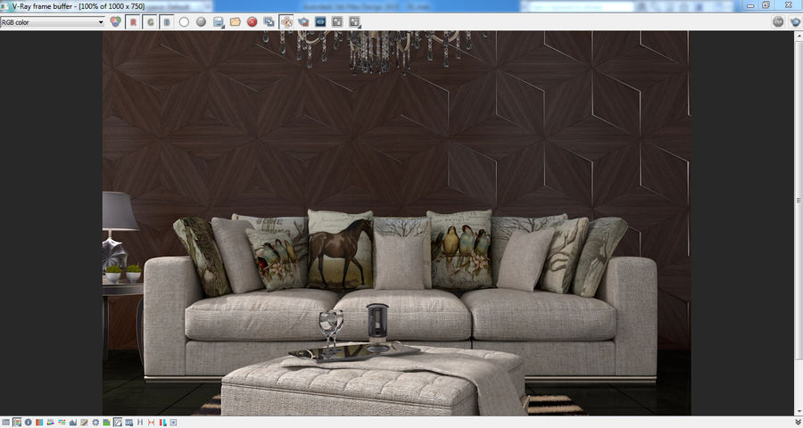 Interior Scene royalty-free 3d model - Preview no. 2