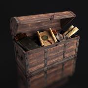 Borst met artefacten 3d model