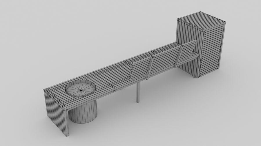Garden Bench royalty-free 3d model - Preview no. 8
