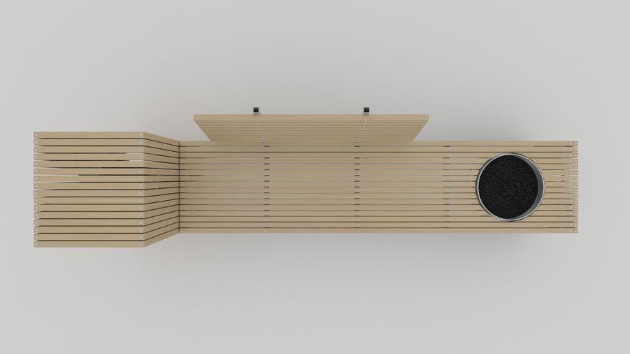 Garden Bench royalty-free 3d model - Preview no. 6
