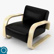 Alvar Aalto 400 loungestol 3d model