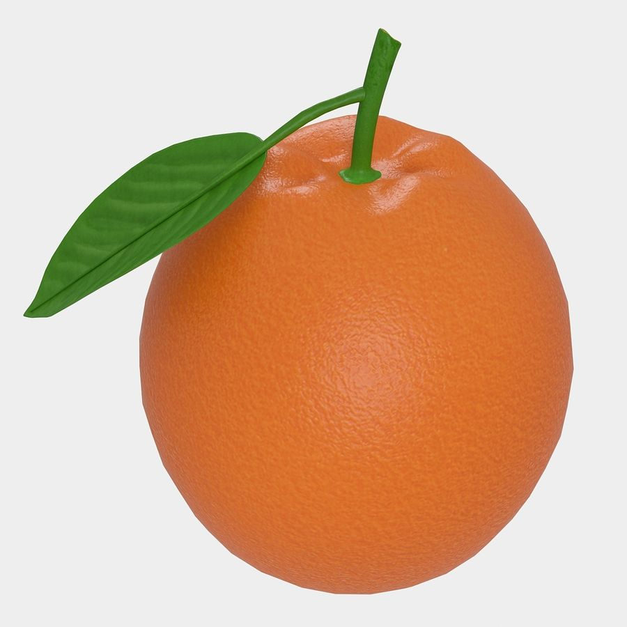 orange frukt royalty-free 3d model - Preview no. 2