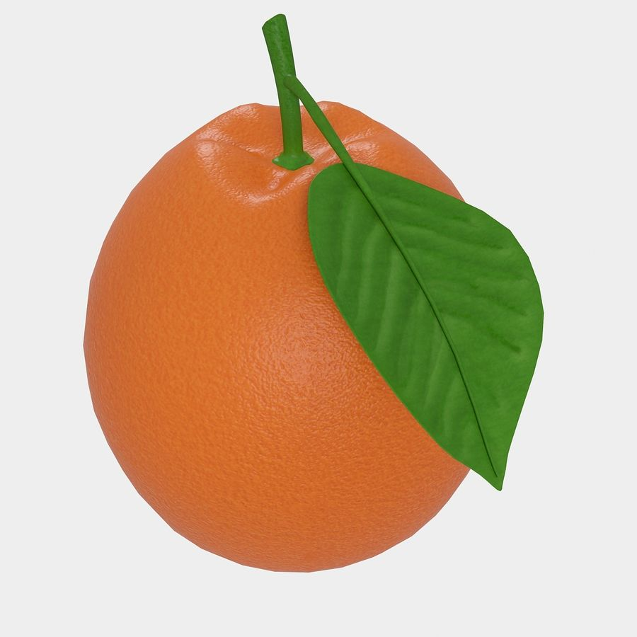 orange frukt royalty-free 3d model - Preview no. 3