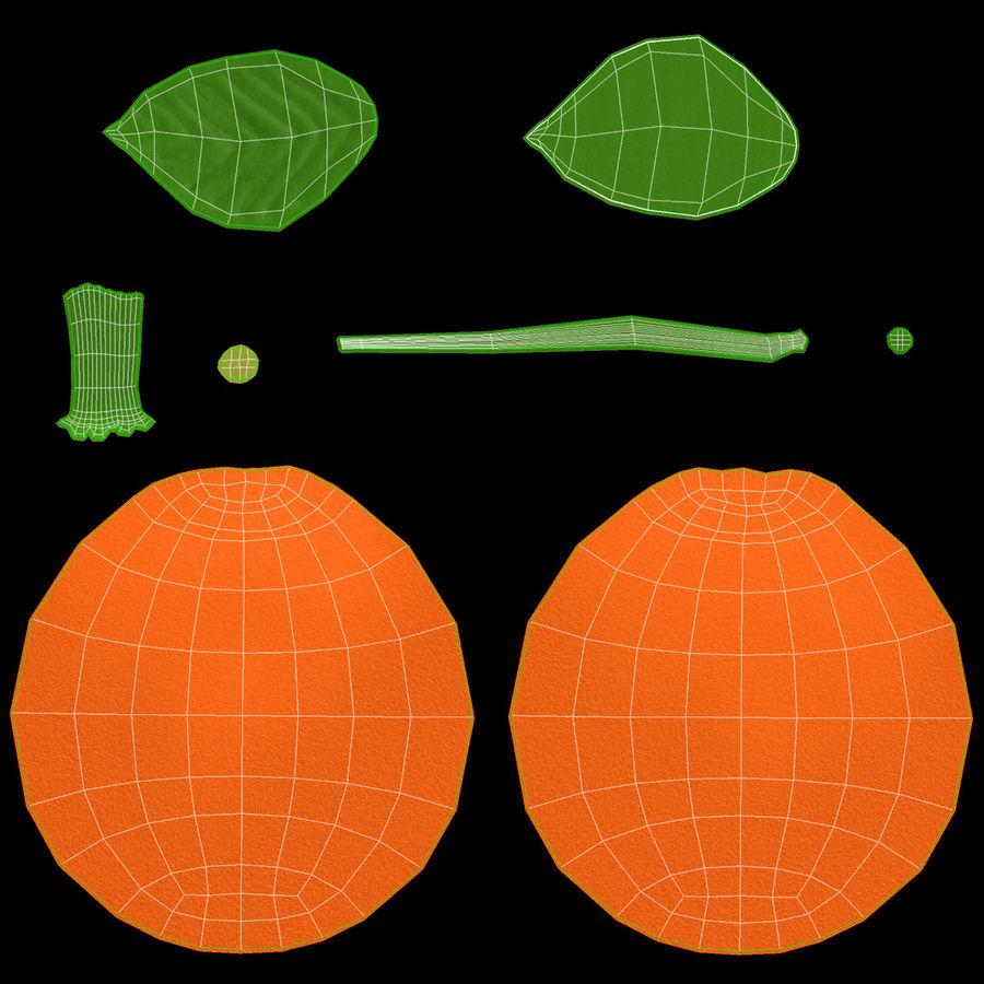 orange frukt royalty-free 3d model - Preview no. 15