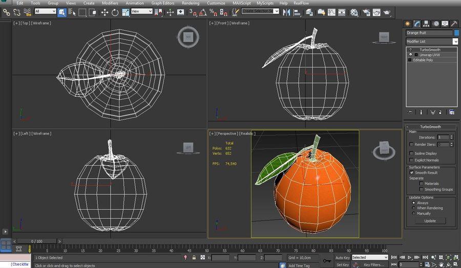 orange frukt royalty-free 3d model - Preview no. 16