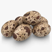 Huevos De Codorniz Pose 2 modelo 3d