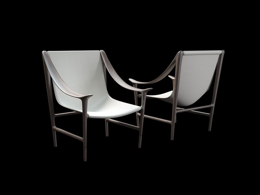 SWING-chair royalty-free 3d model - Preview no. 2