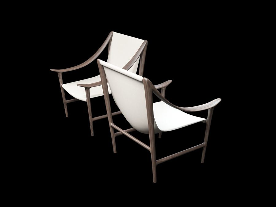 SWING-chair royalty-free 3d model - Preview no. 8
