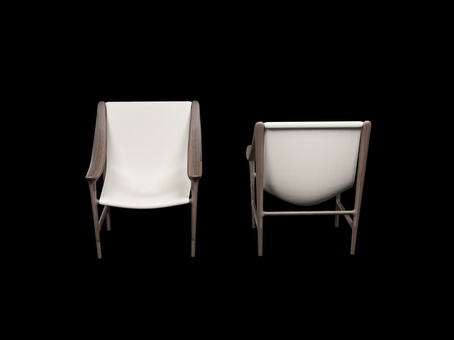 SWING-chair royalty-free 3d model - Preview no. 4