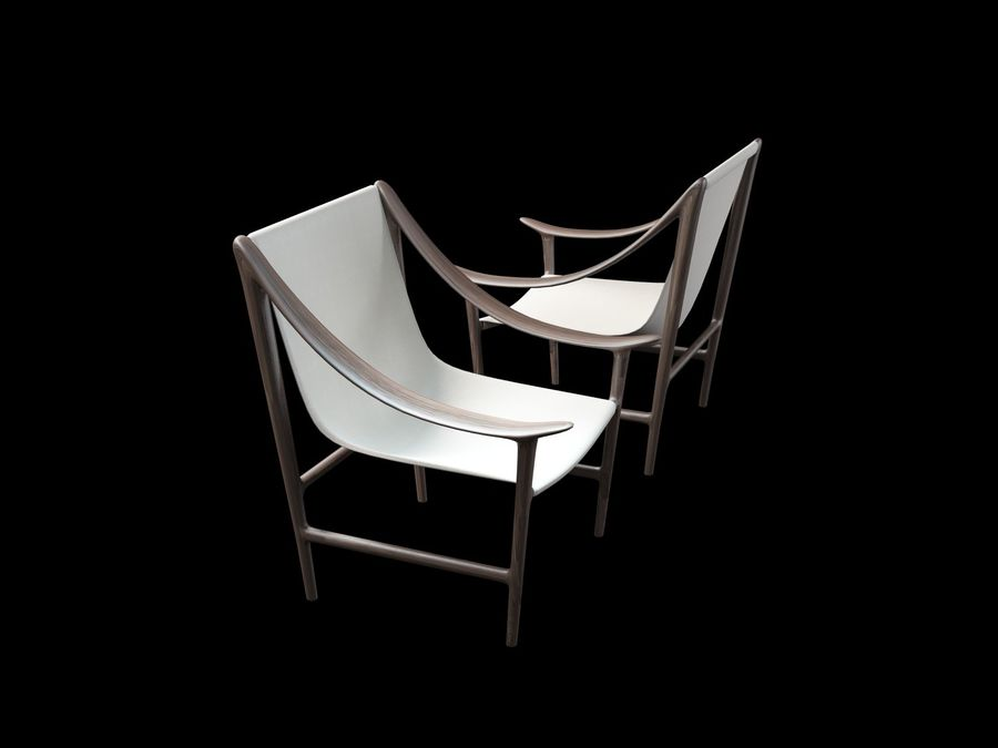 SWING-chair royalty-free 3d model - Preview no. 3