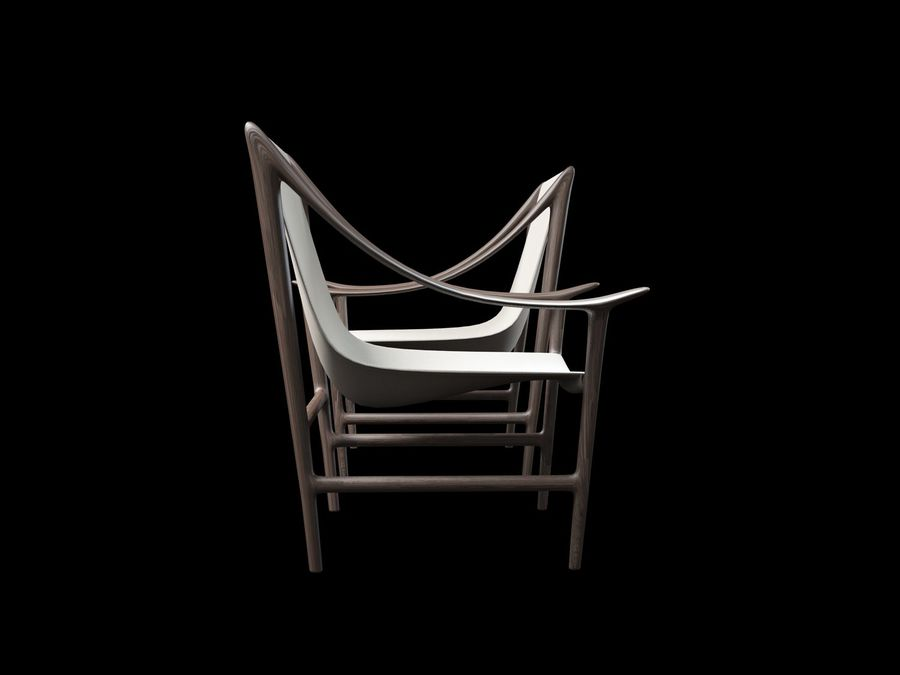 SWING-chair royalty-free 3d model - Preview no. 5