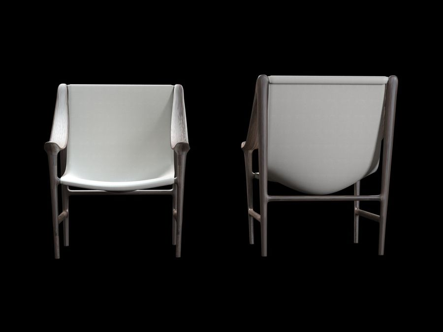 SWING-chair royalty-free 3d model - Preview no. 6
