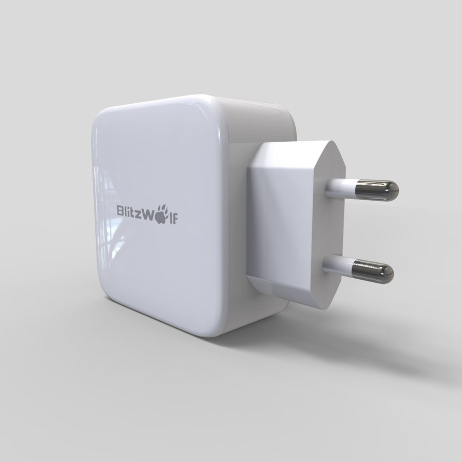 Outlet USB Charger royalty-free 3d model - Preview no. 8