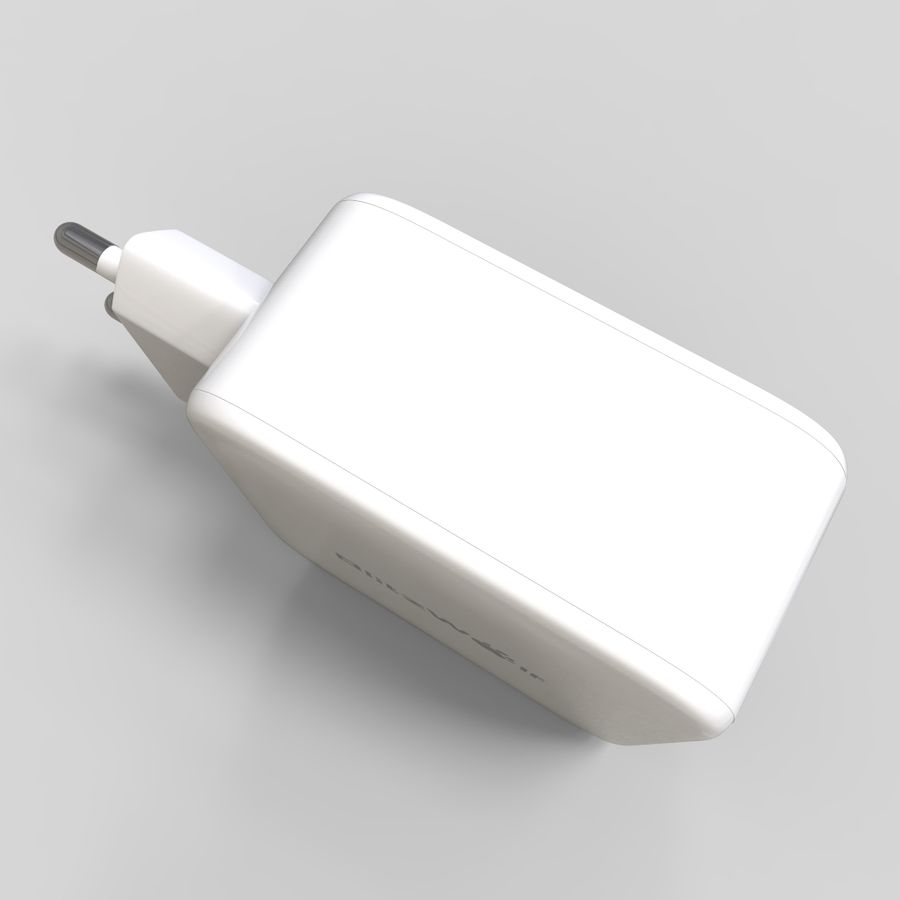 Outlet USB Charger royalty-free 3d model - Preview no. 7