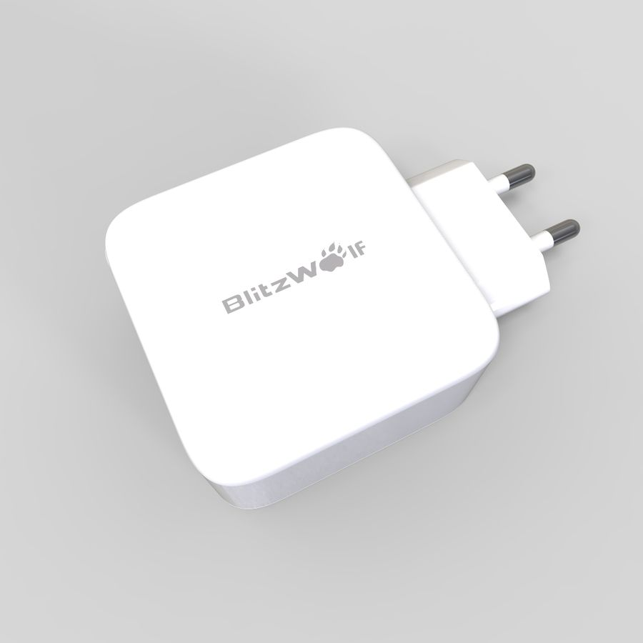 Outlet USB Charger royalty-free 3d model - Preview no. 3