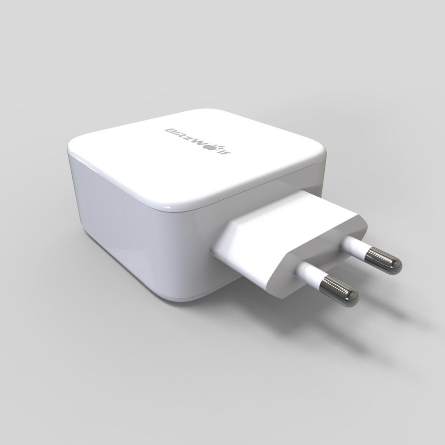 Outlet USB Charger royalty-free 3d model - Preview no. 4