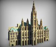 Rathaus low poly 3d model